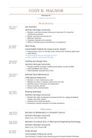 lab assistant resume samples visualcv resume samples database