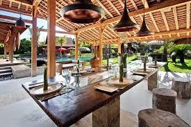 Balinese Dining Table Bali Ethnic Villa Villa Kayu Umalas Kerobokan Bali Villa