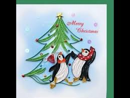 quilled christmas greeting card kids quilling art craft youtube