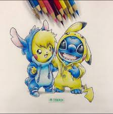 stitch and pikachu drawings pinterest pikachu stitch and