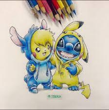 cute halloween drawings stitch and pikachu drawings pinterest pikachu stitch and