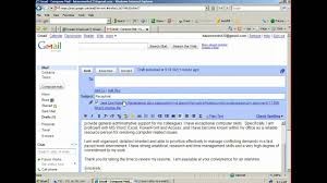 Fresher Jobs Resume Upload by How To Attach And Email A Resume Youtube