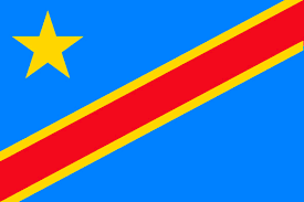 Red Blue Yellow Flag Flag Of The Congo Democratic Republic The Symbol Of Serenity And