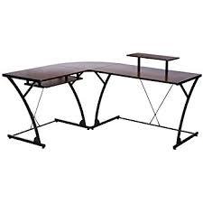 Line Desk Amazon Com Z Line Designs Khloe L Desk Brown Kitchen U0026 Dining