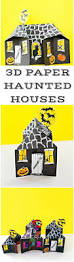 3d spooky paper haunted house craft cute halloween paper craft