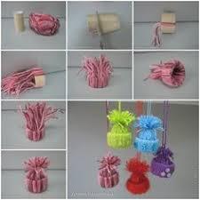 mini yarn hats ornaments diy ornaments diy