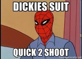 Spiderman Meme Generator - dickies suit quick 2 shoot gangsta spiderman meme generator