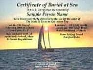 scattering ashes at sea sailing charter galveston bay kemah