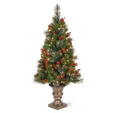 shop national 4 ft pre lit slim artificial tree with 100
