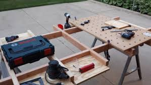 How To Make A Picnic Table Out Of 1 Sheet Of Plywood by Simple Plywood Cutting Table Work Table Updated 6 Steps With