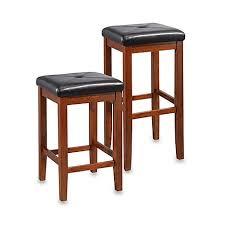 Bar Stool Sets Of 2 Crosley Upholstered Square Seat Bar Stools Set Of 2 Bed Bath