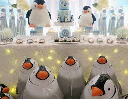 Penguin Baby Shower Decorations Winter Party Ideas For A Baby Shower Catch My Party