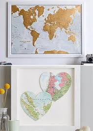 wedding gift map wedding gift ideas for the travel obsessed brides