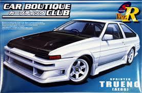 toyota motor corporation japan aoshima 47750 toyota sprinter trueno ae86 car boutique club 1 24