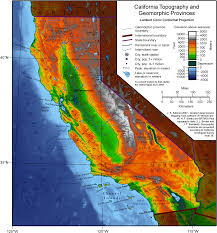 Map Of United States Physical Features by Geography Of California Wikipedia