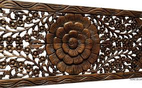 floral wood carved wall panel wall hanging wall