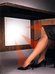 sous bureau radiateur pour les jambes sous le bureau ubergizmo