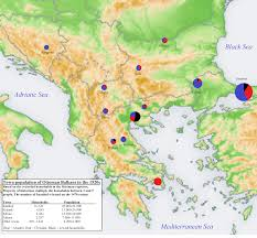 Balkans Map Religious Population Of The Towns In The Ottoman Balkans In 1520s