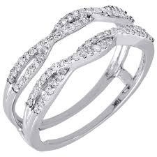 10k white gold wedding band 10k white gold diamond solitaire engagement ring enhancer wrap