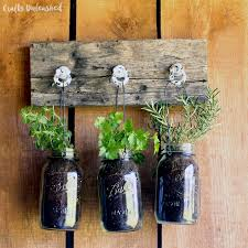 how to build an herb garden diy hanging garden for jarred herbs crafts unleashed
