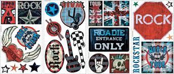 room mates studio designs boys rock n roll wall decal reviews default name