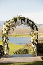 wedding arch las vegas wedding ceremony arch with white flowers www andreaeppolitoevents