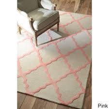 nuloom handmade alexa moroccan trellis wool area rug 5 u0027 x 8 u0027 by