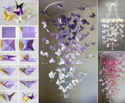 diy bedroom decorating ideas butterfly origami for diy bedroom decor resolve40 com