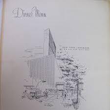 large schrafft u0027s dinner menu united nations september 28 1964
