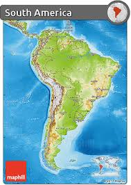 free physical map of south america