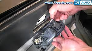 How To Replace Exterior Door by How To Install Replace Inside Door Handle Honda Accord 94 97