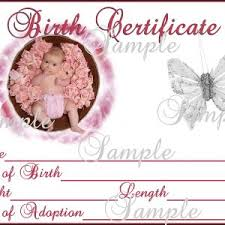 baby birth certificate template fitness templates free doc500386