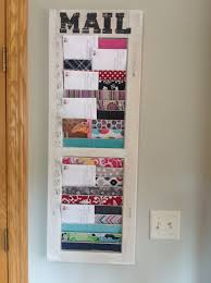 Romantika Home Decor by Uses For Thirty One Fabric Swatches Mail Organizer Diy