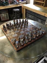 fancy chess boards steampunk chess set
