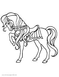pretty horse color page