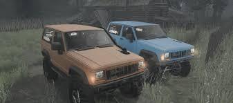 nissan jeep 2017 jeep xj nissan turbo diesel 1990 v07 12 17 spintires mudrunner mod