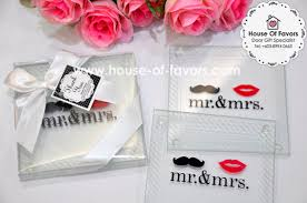 coaster favors mr mrs glass coasters set of 2 as low as rm2 90 glass