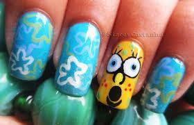 spongebob squarepants nail design nail art gallery