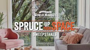 Home Decor Sweepstakes Spruce Up Your Space Sweepstakes With Cost Plus World Market Youtube