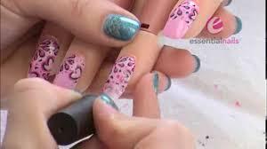 gel nail art designs sweet pink white colored calgel nail art