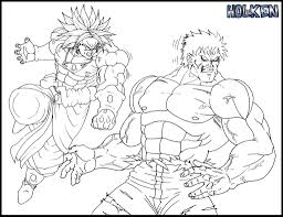 lineart broly vs hulk by dbzwarrior on deviantart