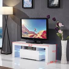 Modern Furniture Tv Table Amazon Com Led Tv Stand Unit Cabinet W Drawer Console Furniture