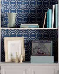 trellis stenciled bookcase backsplash martha stewart