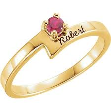 mothers ring with names gold 1 to 4 stones names engravable ring