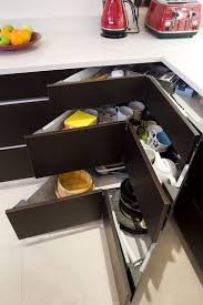 Kitchen Cabinets With Drawers 30 Corner Drawers And Storage Solutions For The Modern Kitchen