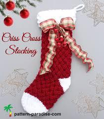 new crochet pattern criss cross crochet stocking pattern