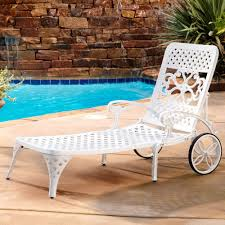 poolside furniture ideas outdoor chaise lounge with wheels white finish patio poolside