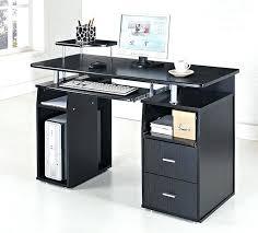Black And Chrome Computer Desk Chrome And Glass Computer Desk Black Glass Chrome Modern Computer