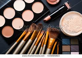 Professional Makeup Tools Professional Makeup Brushes Tools Makeup Products Stock Photo