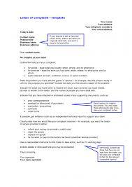 letter complaint letter template